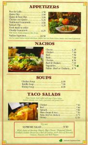 Apps, Nachos, Soups, Salads